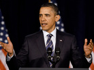 President Barack Obama speaks about fiscal policy at George Washington University on April 12, 2011 in Washington, DC.