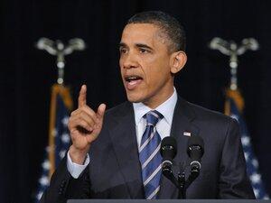 President Obama speaks on fiscal policy Wednesday at George Washington University in Washington, D.C.