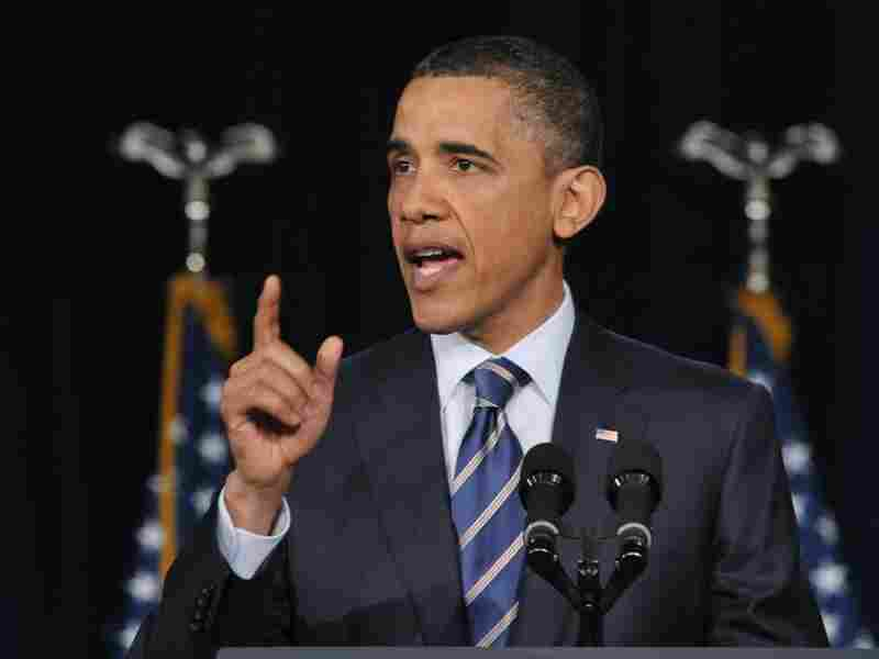 President Obama speaks on fiscal policy Wednesday at George Washington University in Washington, D.C.