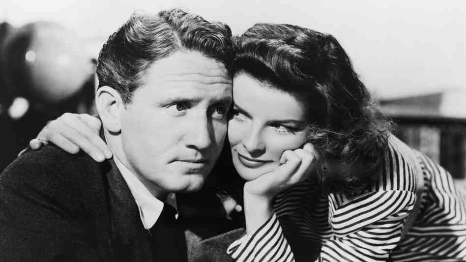 Spencer Tracy (left) and Katharine Hepburn first appeared alongside one another in 1942's Woman Of The Year, sett