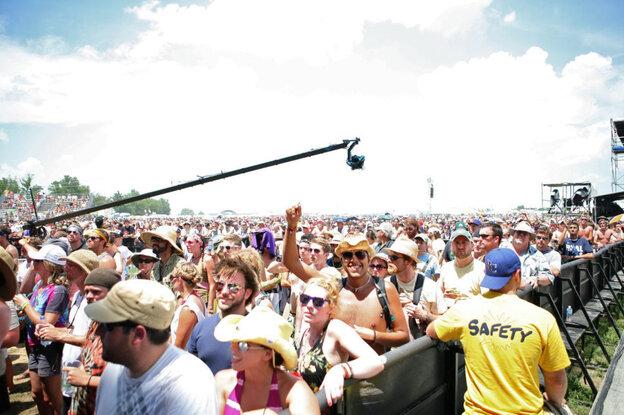The crowd at Bonnaroo 2010.
