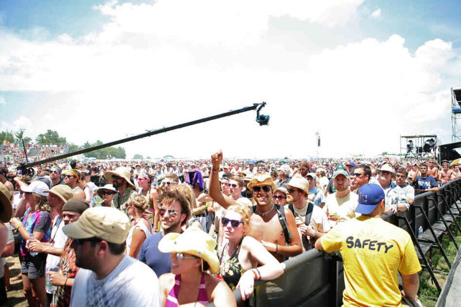 The crowd at Bonnaroo 2010.