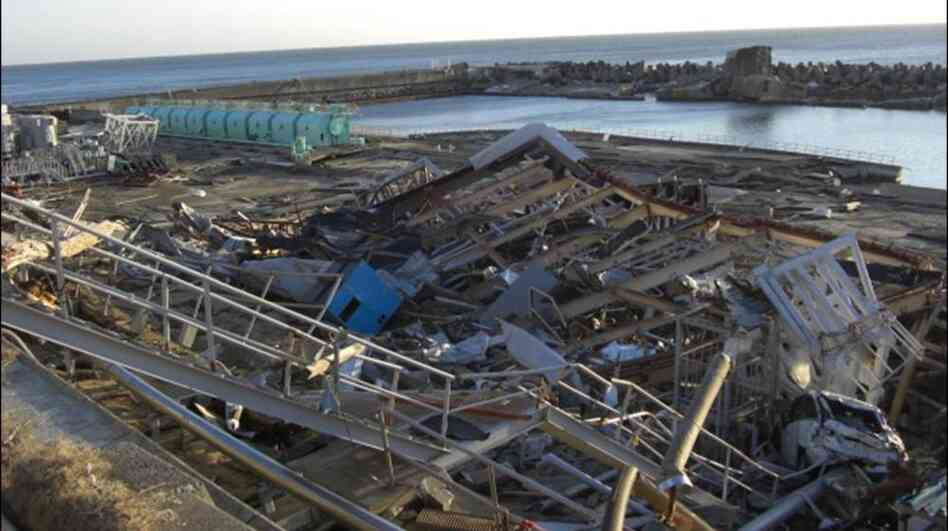 Damage at the Fukushima Dai-Ichi nuclear power plant, from the March 11 earthquake and tsunami.