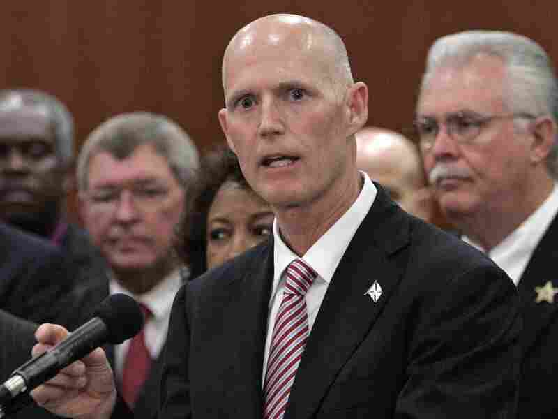 Florida Gov. Rick Scott at a news conference last month in Tallahassee.