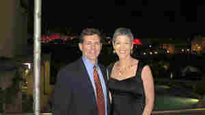 Greg Myre and Jennifer Griffin returned to Jerusalem last October, for a Race For The Cure breast cancer event. The walls of Jerusalem's Old City are in the far background, lit by pink lights for the occasion.