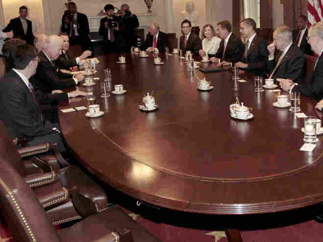President Obama and Vice President Joe Biden host a bipartisan meeting with congressional leaders.