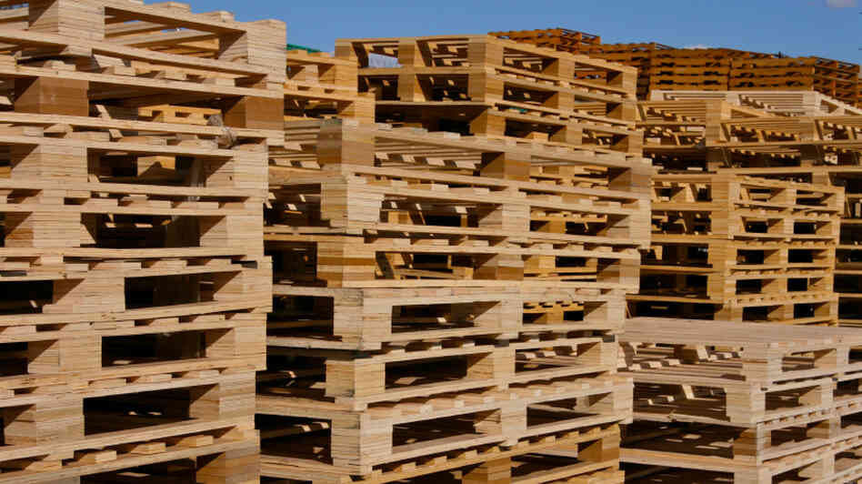 Wooden pallets like these