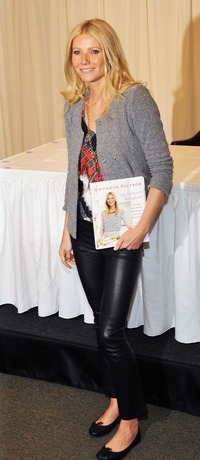 Gwyneth Paltrow promotes her new book April 14 at Barnes & Noble on 5th Avenue in New York City.
