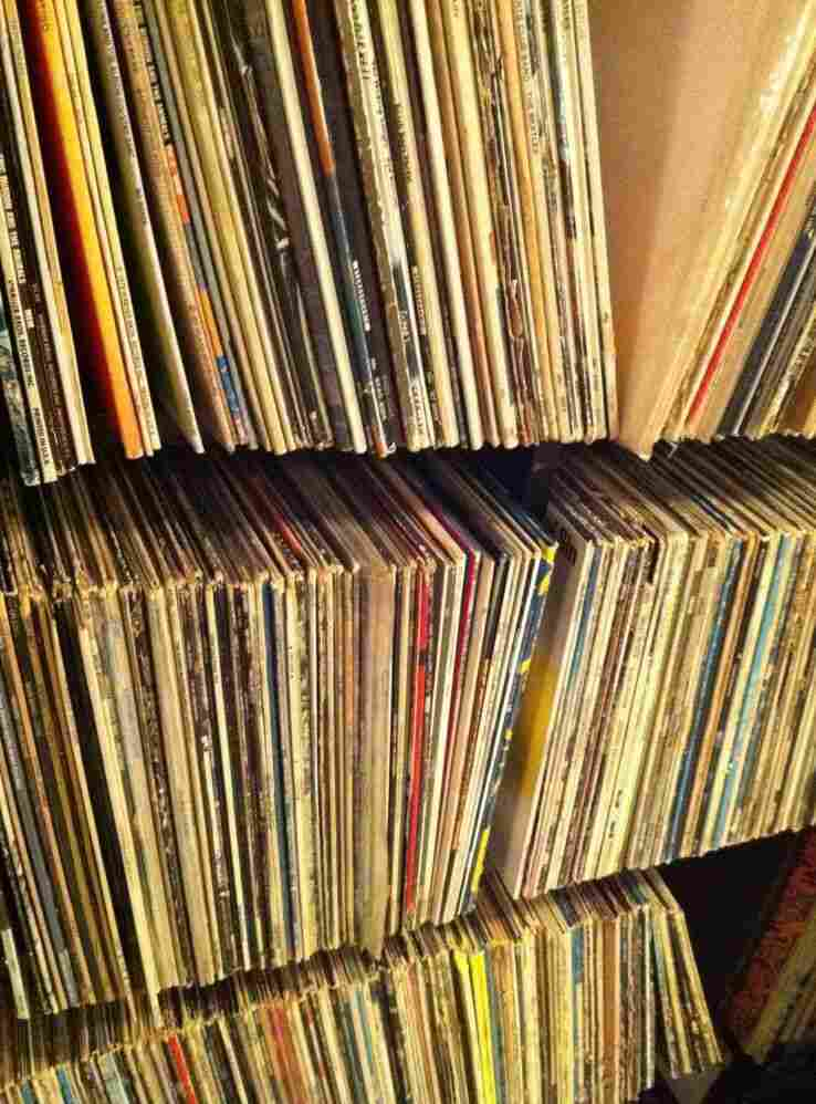 Some of Bob Boilen's record collection.
