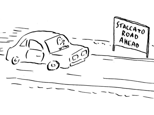 Staccato road ahead...