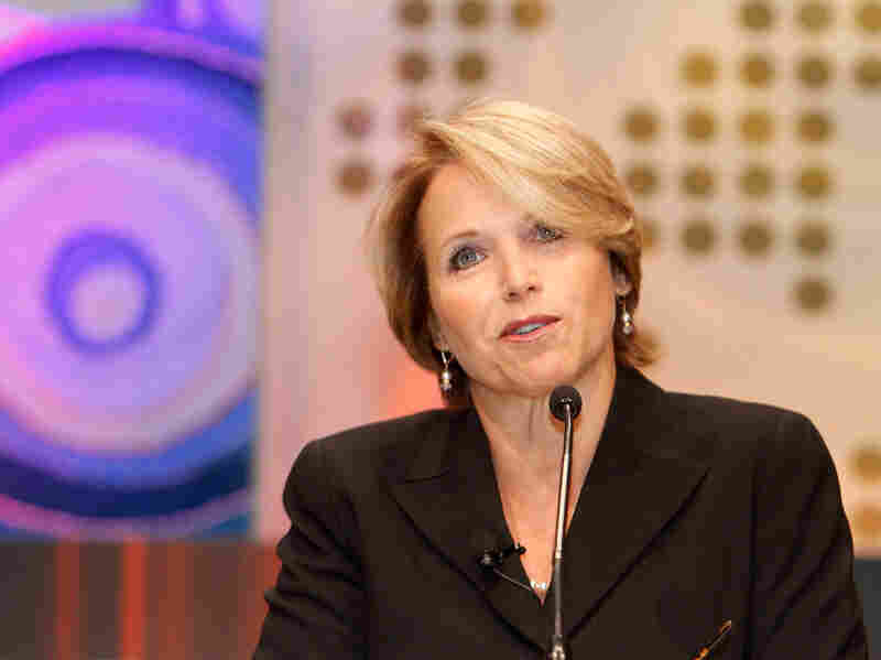 CBS News Anchor Katie Couric speaks at the Fortune/TIME/CNN Global Forum in South Africa in 2010. Couric announced Tuesday that she is stepping down from her position as an anchor with CBS Evening News.