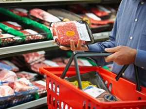 About half of meat and poultry samples nationwide had evidence of S. aureus contamination, a study found.