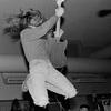 Novoselic and Cobain perform at the University of Washington HUB Ballroom in February 1989.