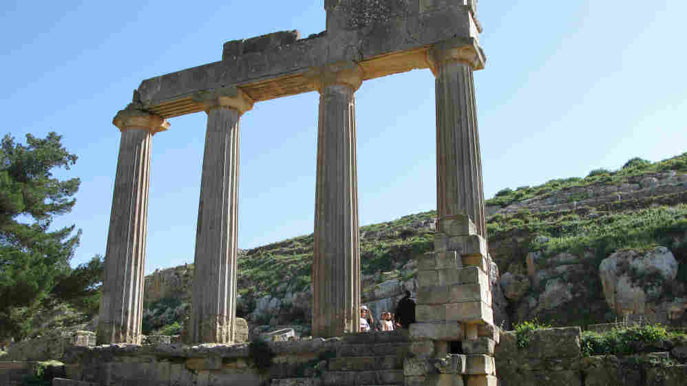 In the lush Green Mountains above the eastern Libyan city of Derna sit the  ancient ruins of Cyrene. They are among the most magnificent Hellenic  ruins outside Greece. The place is a bit of a refuge for Libyans, who come here to picnic, relax and enjoy the cool breezes.