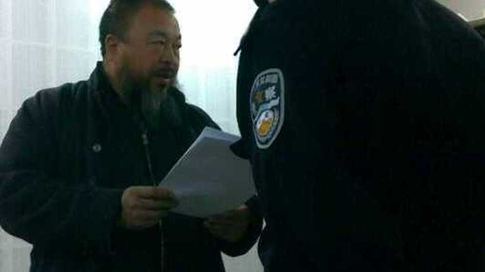 Ai Weiwei was visited by police three days before he was detained. (Danielle Shang Laverty)