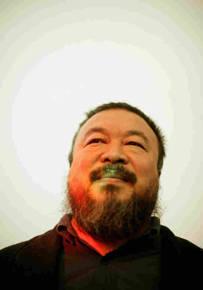 Ai Weiwei, one of China's most controversial artists, looks on during the  'So Sorry' exhibition opening at 'Haus der Kunst' on October 11, 2009 in Munich.