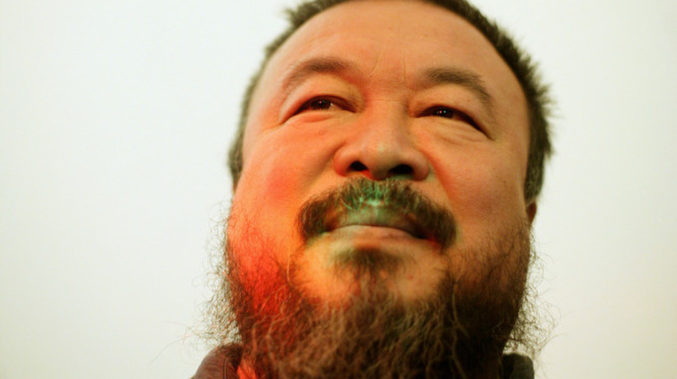 Ai Weiwei, one of China's most controversial artists, looks on during the  'So Sorry' exhibition opening at 'Haus der Kunst' on October 11, 2009 in Munich. (Getty Images)