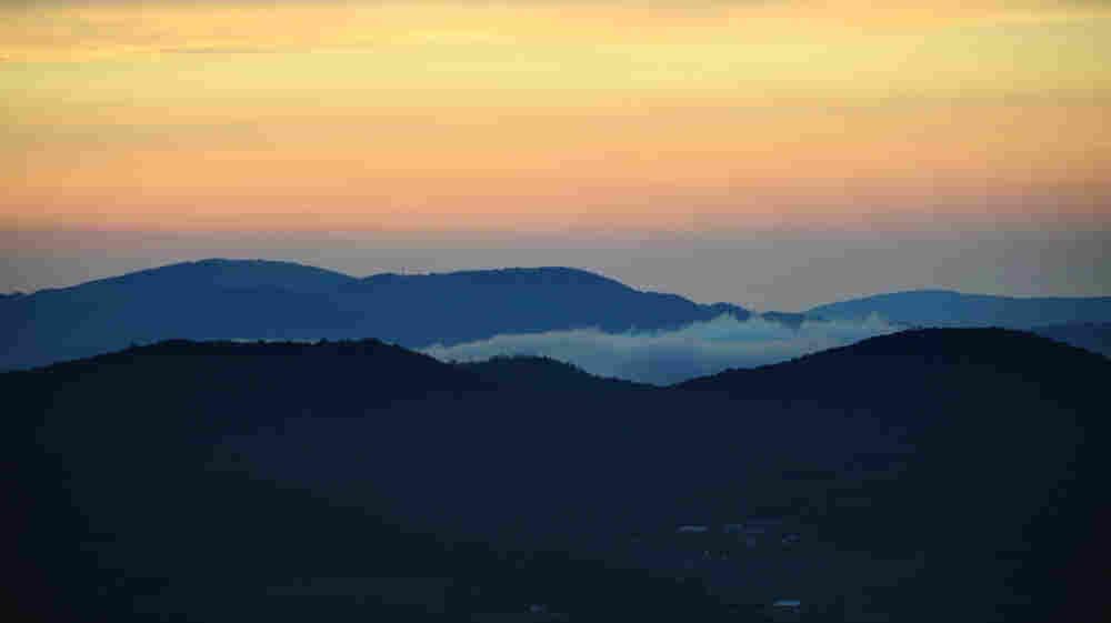 Sunrise from the Blue Ridge Parkway in Laurel Springs, N.C.