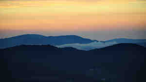 Sunrise from the Blue Ridge Parkway in Laurel Springs, N.C.
