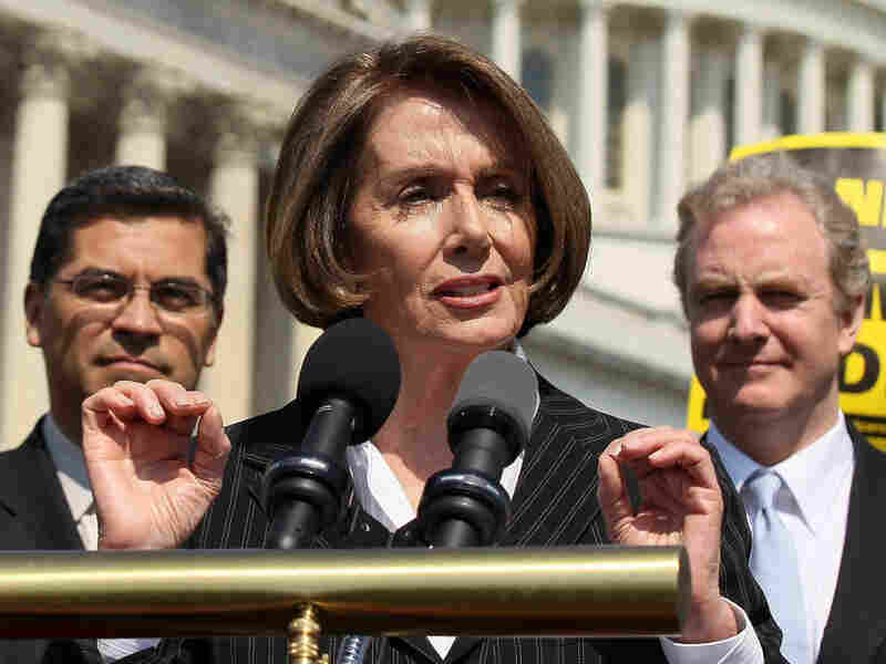 "Minority Leader Nancy Pelosi warns the House's budget would ""abolish Medicare as we know it."""