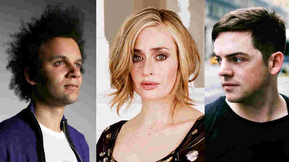 From left: Tyondai Braxton, Sarah Kirkland Snider and Nico Muhly were selected by Q2's audience as part of this Composers Under 40 crowdsourcing project.