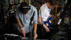 Mount Kimbie performs a Tiny Desk Concert at the NPR Music offices.
