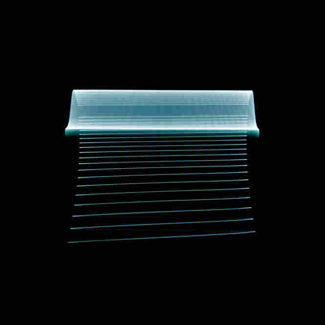 Stephan Tillmans Luminant Point Arrays is a series of photographs of television screens the moment they are turned off.