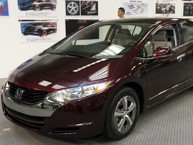 Honda's new fuel cell vehicle, FCX Clarity, can go about 240 miles on a tank of hydrogen fuel.