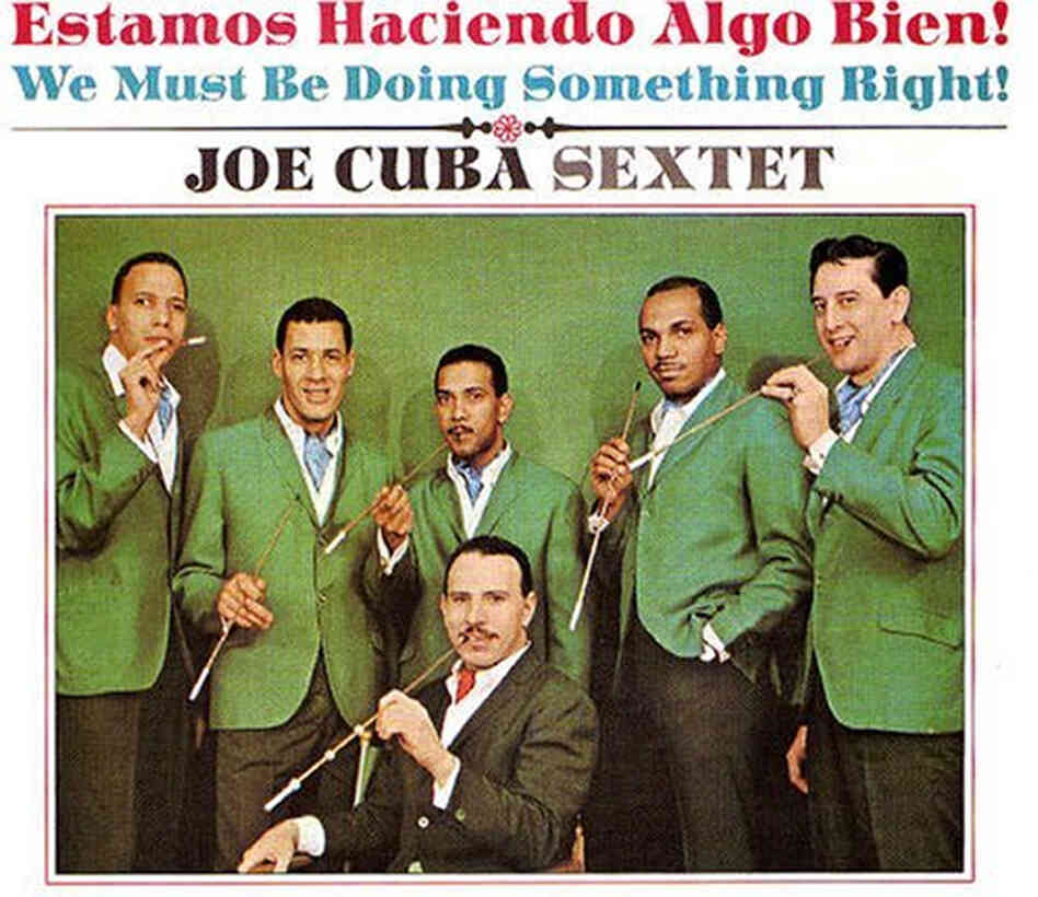 The Joe Cuba Sextet (bandleader Joe Cuba, center).