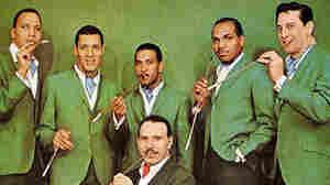 The Joe Cuba Sextet (bandleader Joe Cuba, center).