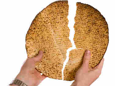 Breaking the middle matzo is a traditional part of the Passover Seder.