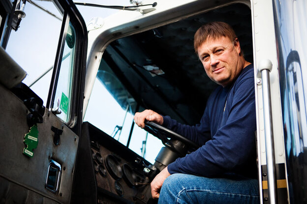 Trucker Terry Button is opposed to onboard trucker m