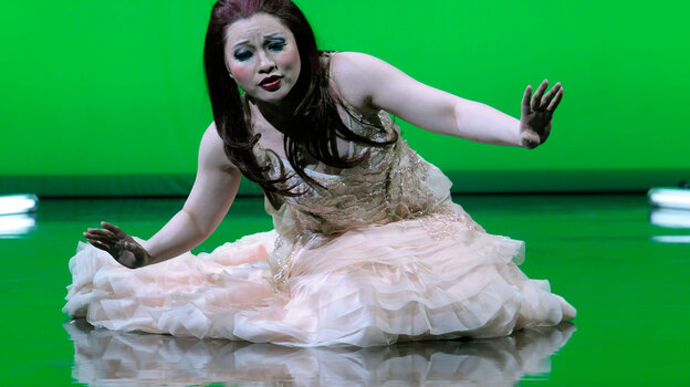 Soprano Ying Huang in the title role of Zhou Long's Pulitzer Prize-winning opera Madame White Snake.