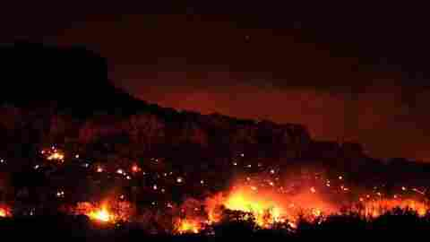 Rock House wildfire near Marfa, TX