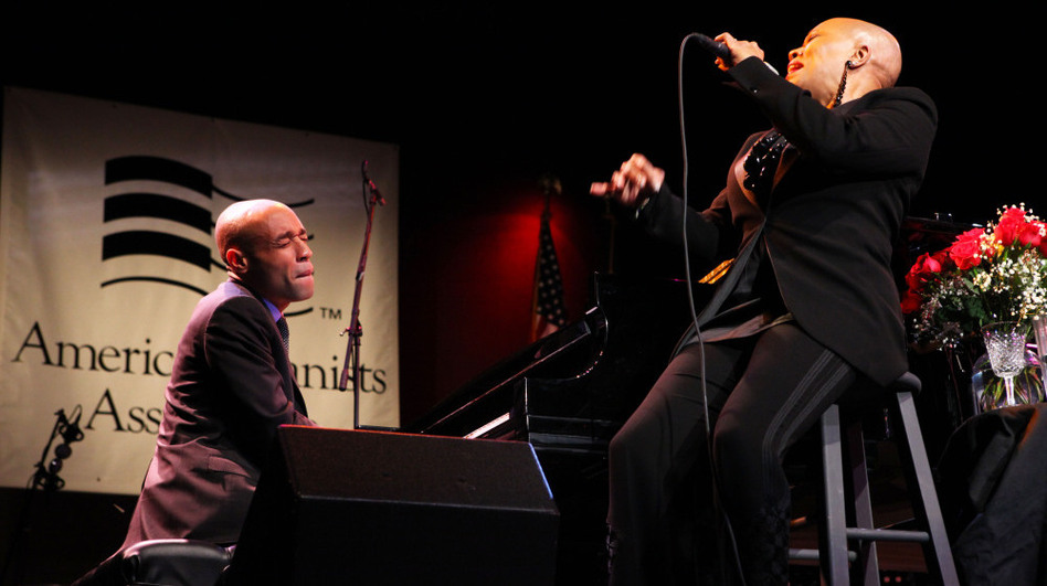 """Aaron Diehl (piano) and Dee Dee Bridgewater go head-to-head on """"Just One of Those Things,"""" by Cole Porter. The duet was part of Diehl's winning performance in the competition for the Cole Porter Fellowship. (American Pianists Association)"""