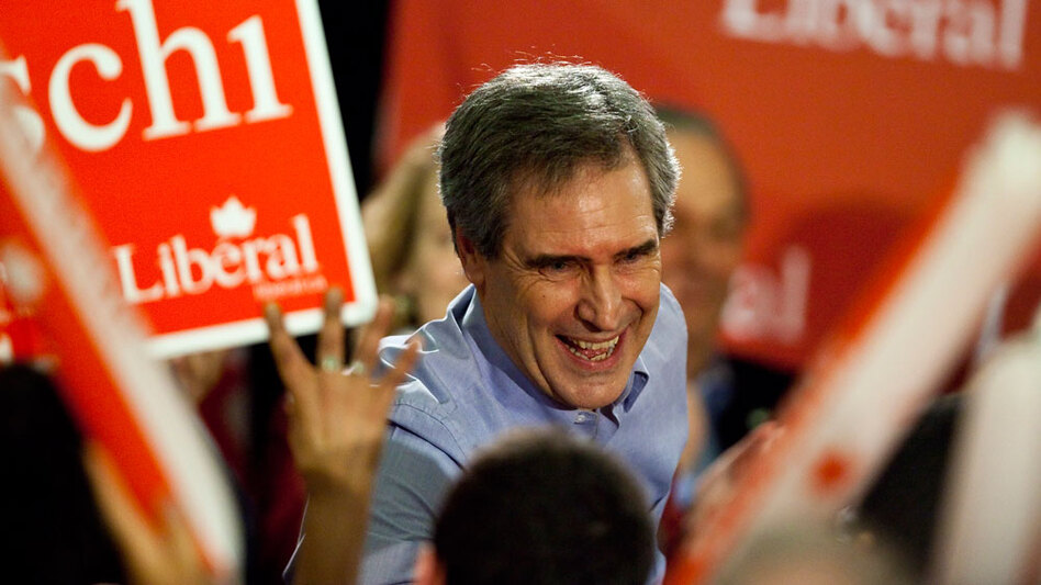 Canada's Liberal Party leader Michael Ignatieff, a candidate for prime minister, greets supporters at a campaign kickoff rally in Ottawa on March 26.