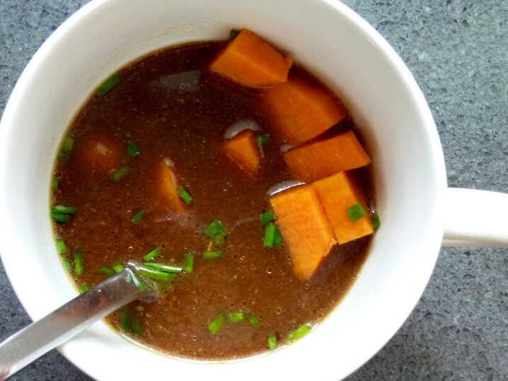 Dark Miso Soup With Sweet Potato