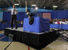 President Obama at today's town hall in Annandale, Va.