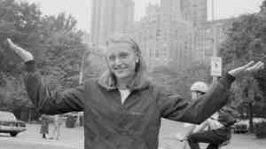 Marathon champion Grete Waitz, in New York's Central Park on Oct. 19, 1983.