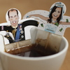 The Hamburg firm Donkey Products is making these William and Kate teabags.