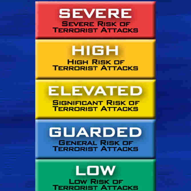 It's going away. The color-coded terror alert system.