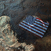 An American flag lays in a slick of oil that washed ashore from the Deepwater Horizon oil spill in the Gulf of Mexico on July 4, 2010, in Gulf Shores, Ala.