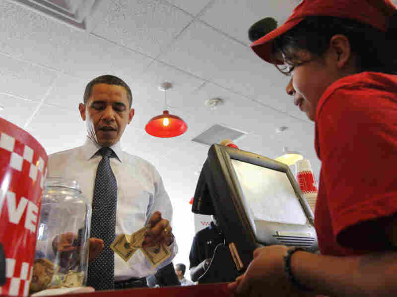 Count President Obama as a fan of Five Guys. In May 2009, the president ordered a hamburger at a Five Guys restaurant in Washington.