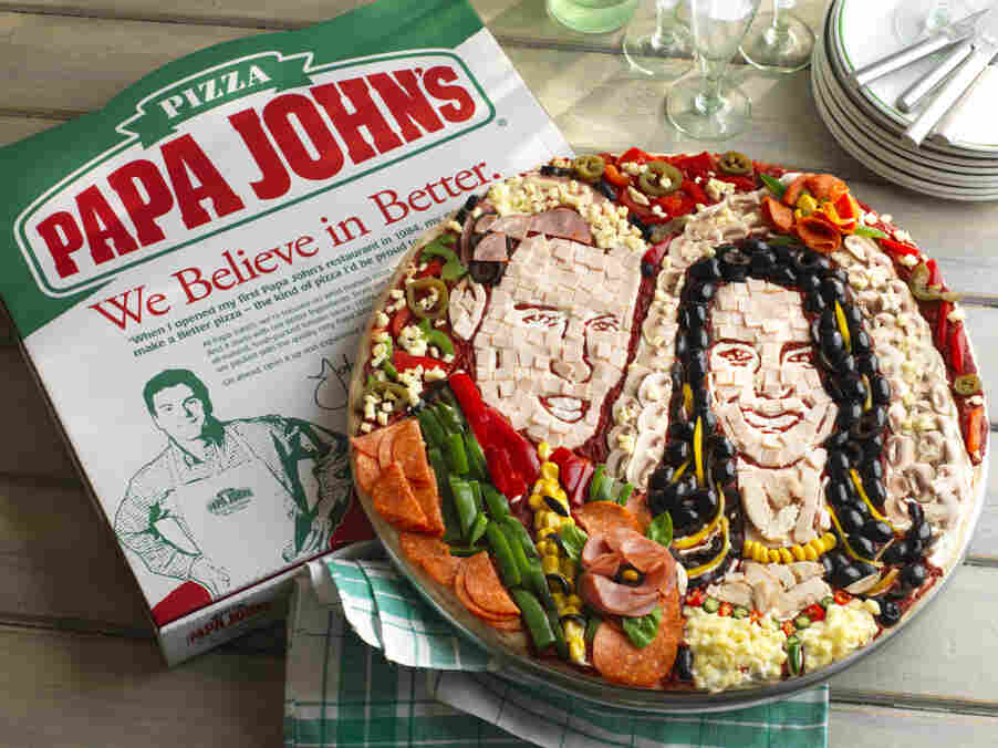 Papa John's commissioned a UK artist to make this awesome Kate and William pizza.