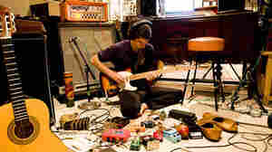 Steve Marion, who calls his band Delicate Steve, at work.