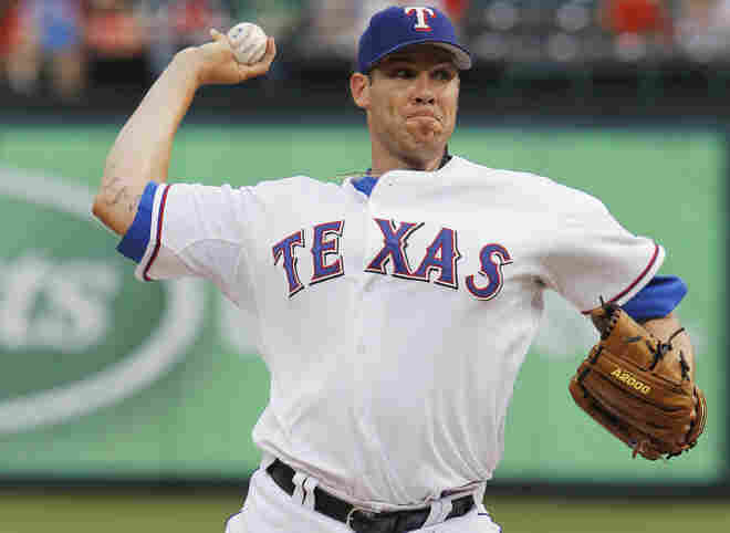 Texas Rangers pitcher Colby Lewis makes his return from paternity leave on Tuesday. He, and the Rangers, lost that night to the Los Angeles Angels of Anaheim, 15-4.