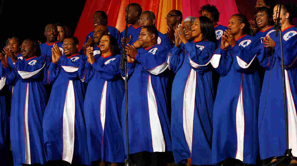 The Mississippi Mass Choir, seen here performing at the 2009 New Orleans Jazz & Heritage Festival, is one of the many gospel group's featured on KUNM's Train to Glory.