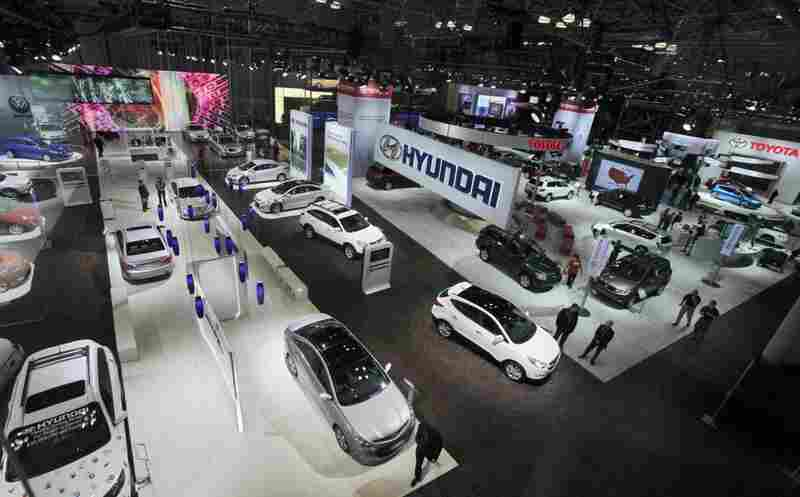 The auto show is the last big showcase of new cars as the industry moves into its summer selling season.