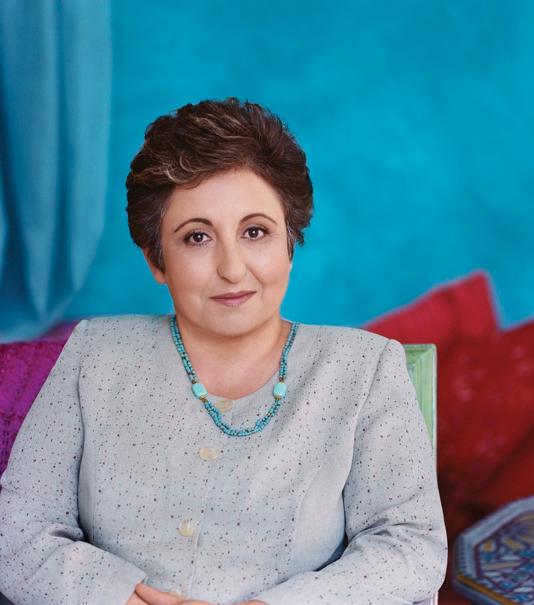 Shirin Ebadi is an Iranian lawyer, a former judge and human-rights activist and founder of Defenders of Human Rights Center in Iran. On Oct. 10, 2003, Ebadi was awarded the Nobel Peace Prize.