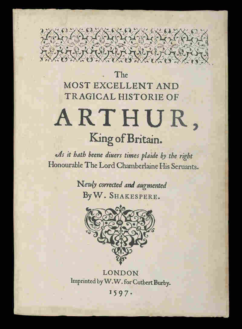 The first page of the folio discovered in The Tragedy of Arthur, a new book by Arthur Phillips.
